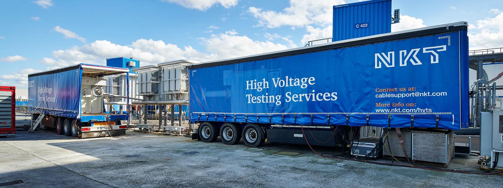 HV mobile test trailer